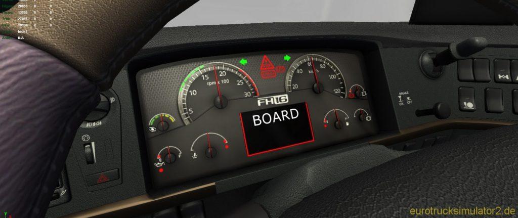 Volvo FH16 Dashboard