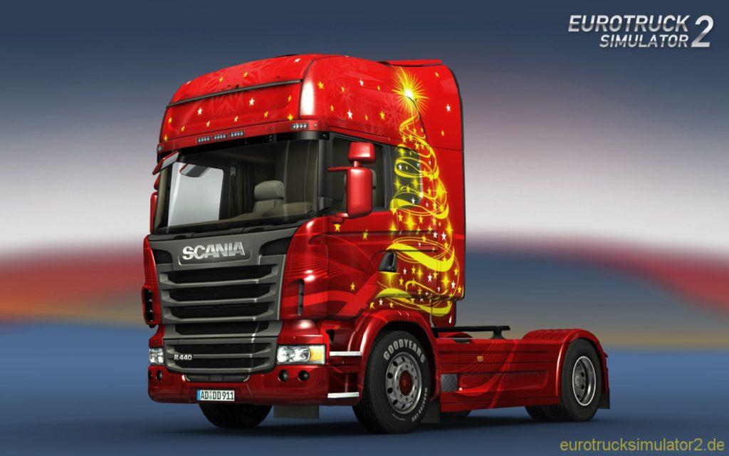 Scania R440 im Weihnachtsdesign