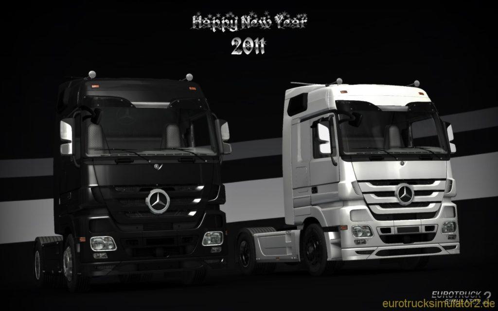 Mercedes in schwarz und weiß
