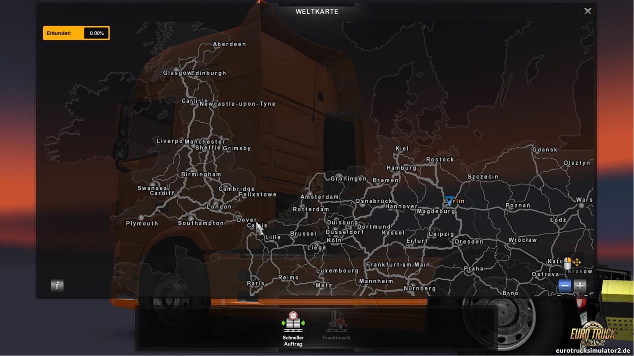 die map euro truck simulator 2. Black Bedroom Furniture Sets. Home Design Ideas
