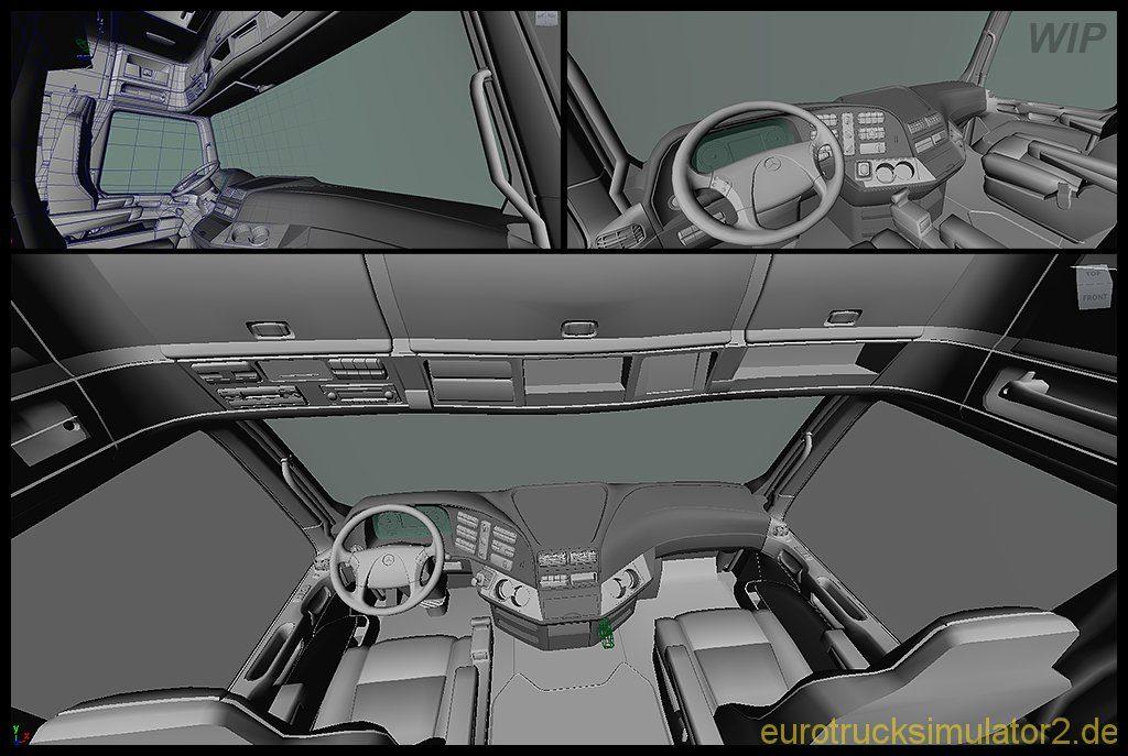 Work in Progress: Mercedes Actros-Interior