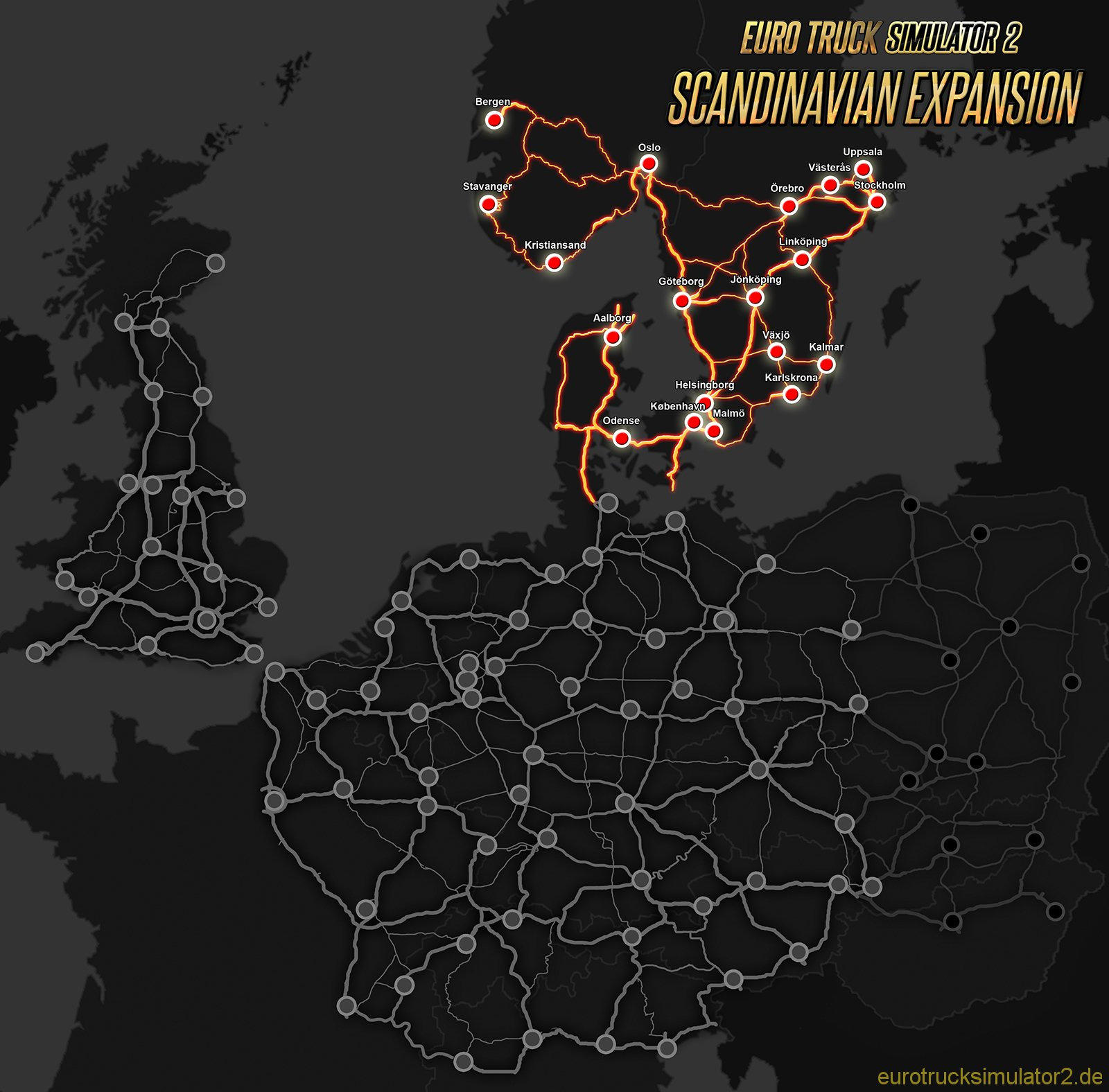 Skandinavien Euro Truck Simulator 2