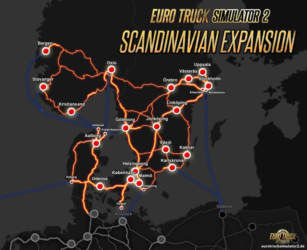 Übersicht Fährverbindungen in/nach Skandinavien