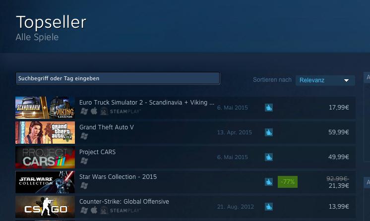 Skandinavien-DLC auf Steam