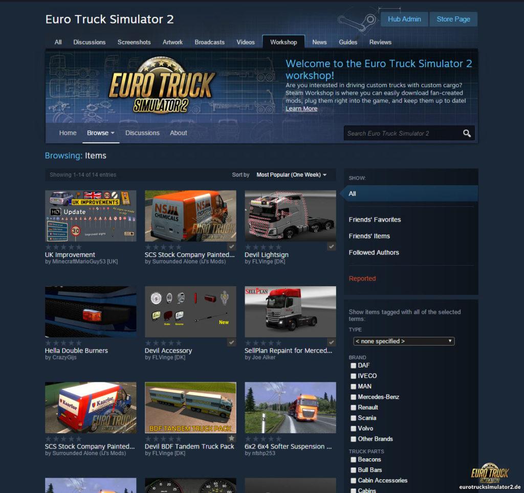 Steam Workshop in der internen Beta