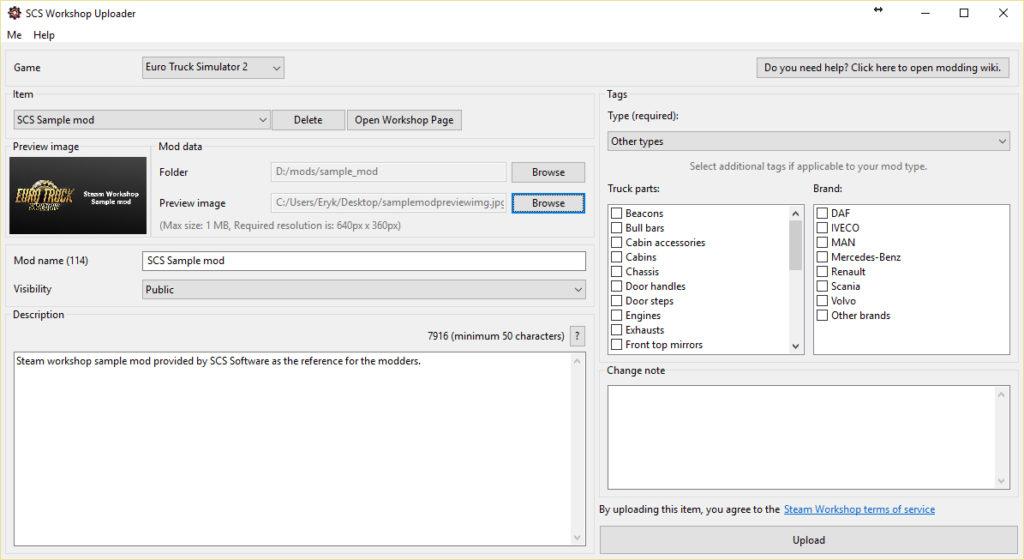 Mod Uploader-Tool für den Steam Workshop