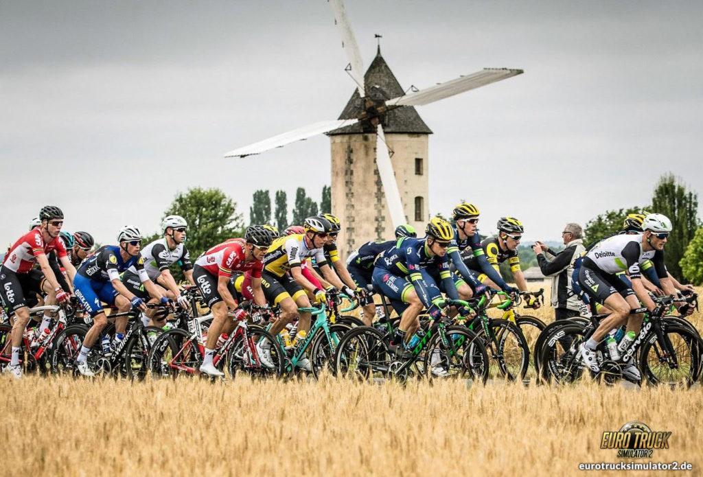 Real Frankreich Windmühle Tour de France