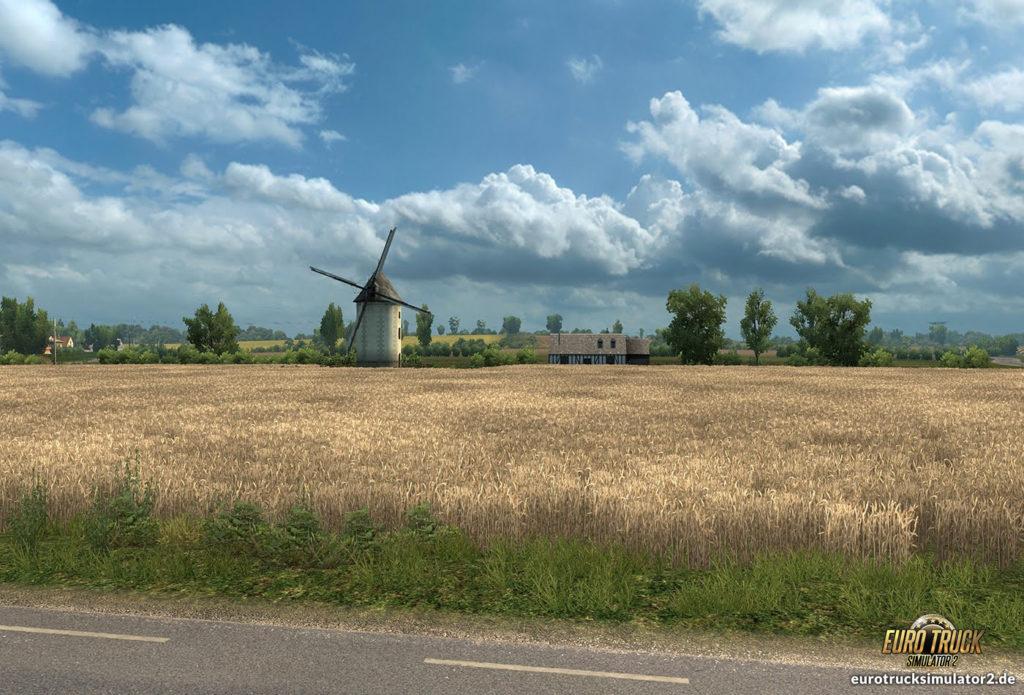 ETS2 Frankreich Windmühle