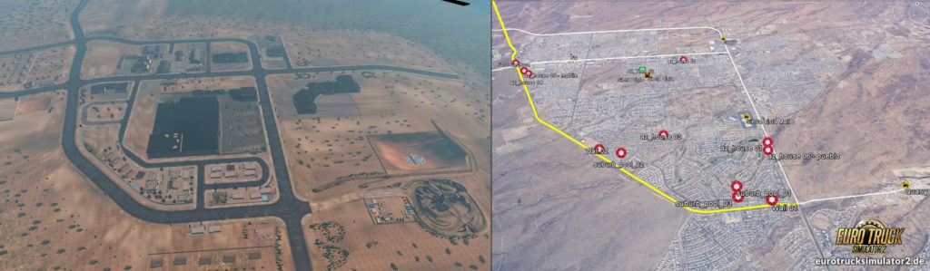 Arizona Sierra Vista Vergleich ETS2 / Realität