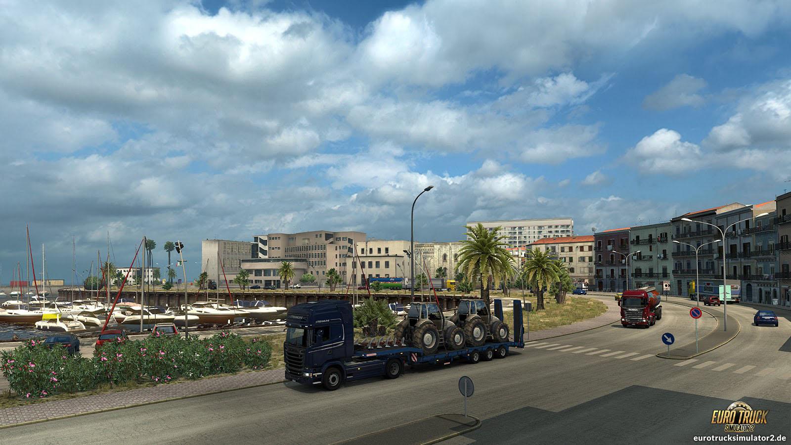 sizilien der fu zipfel italiens euro truck simulator 2. Black Bedroom Furniture Sets. Home Design Ideas