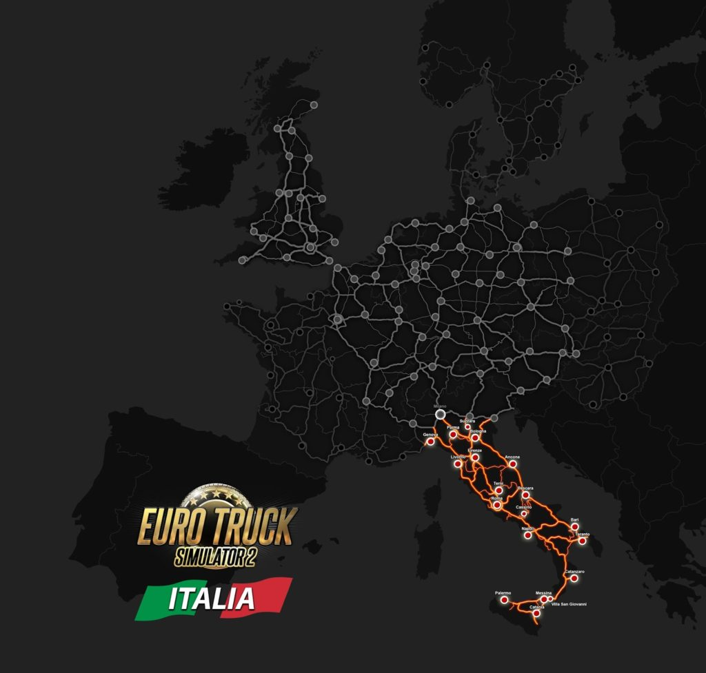 Übersicht über Italien im ETS2