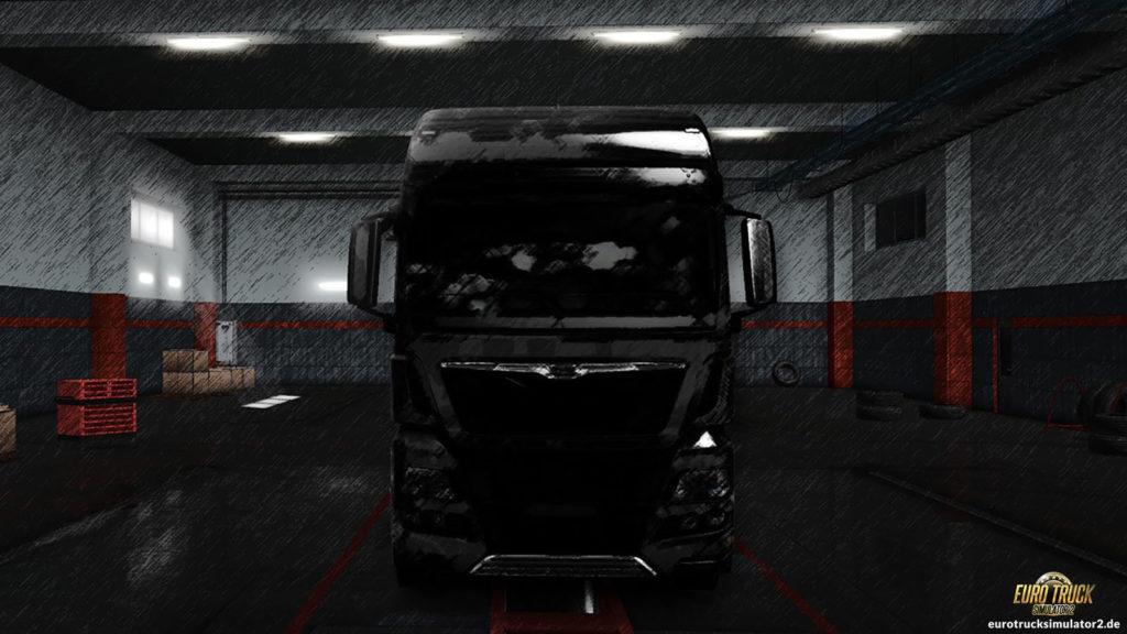 Schatten eines LKWs...