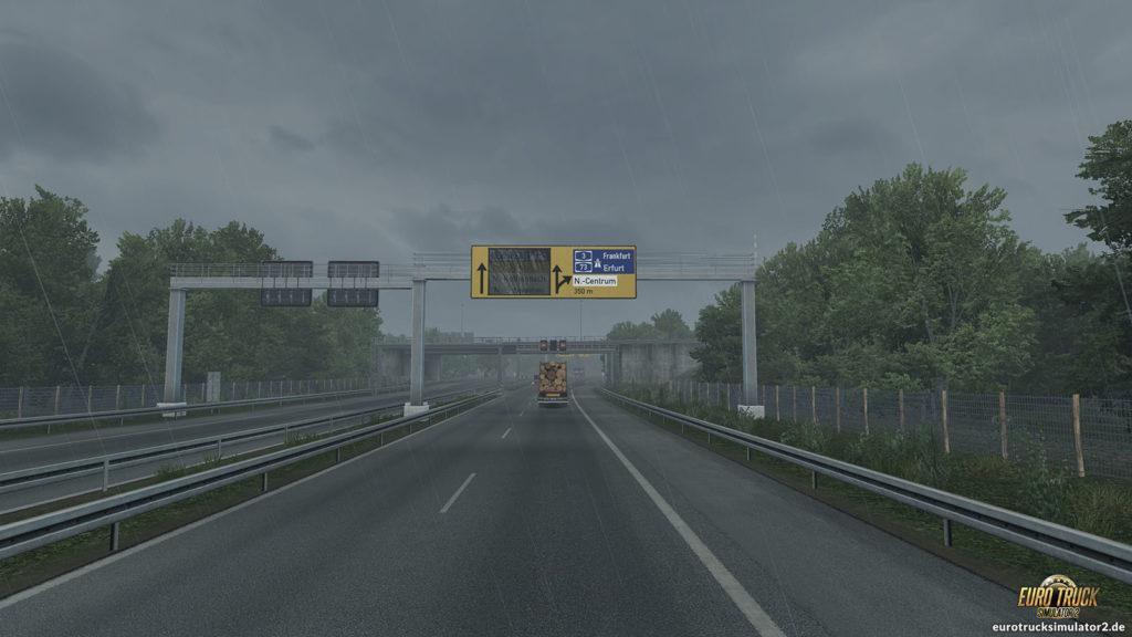 Zufahrt auf Nürnberg im ETS2 1.35