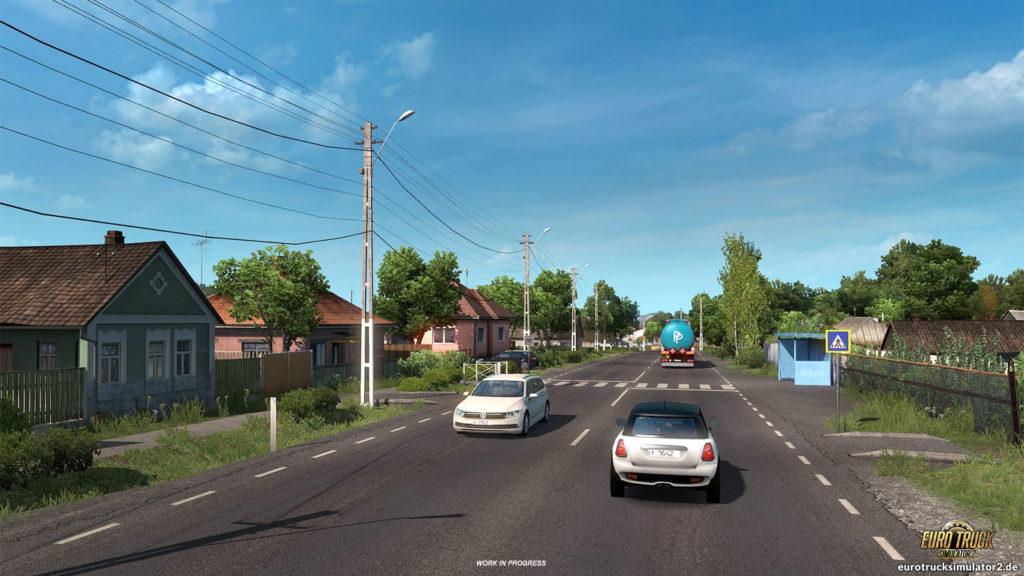 Dörfer und Städte auf dem Weg zum Schwarzen Meer