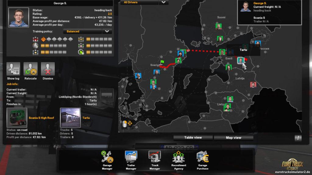 Fahrerkarte in der Version 1.36