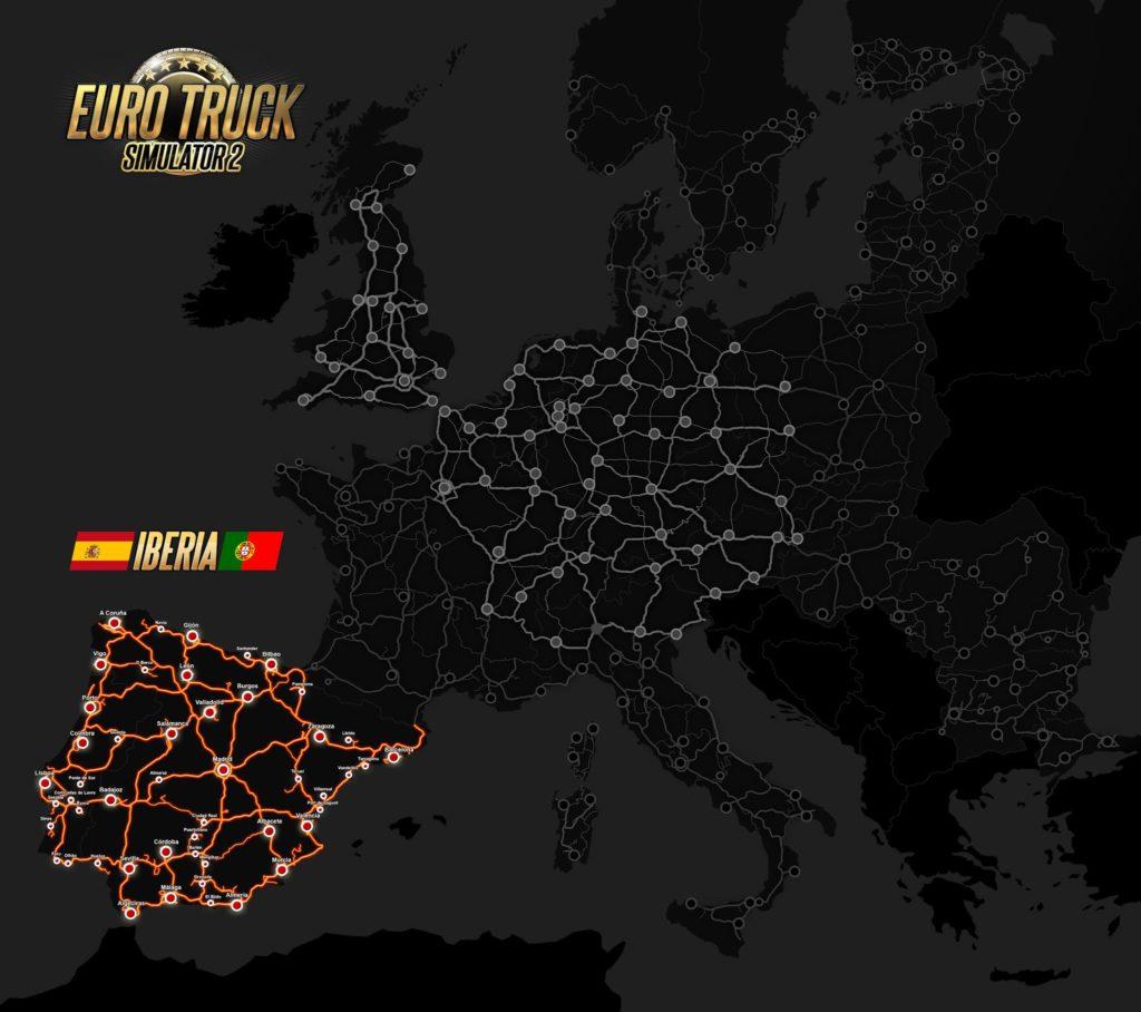 Die ETS2-Weltkarte